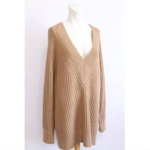 NWT Banana Republic TAN chunky knit sweater L